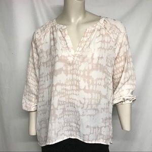 Cynthia Rowley easy button blouse
